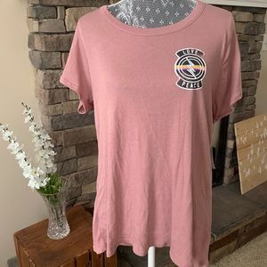 Chaser Mauve Backless Tee NWT